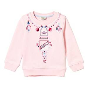 Kenzo Girls Jumpers and knitwear Pink Pink Necklace Effect Sweatshirt