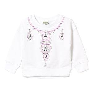 Kenzo Girls Jumpers and knitwear White White Necklace Effect Sweatshirt