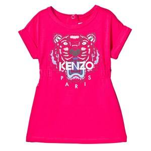 Kenzo Girls Dresses Pink Hot Pink Tiger Print Jersey Dress