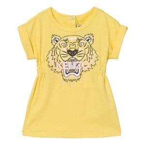 Kenzo Girls Dresses Yellow Yellow Tiger Print Jersey Dress