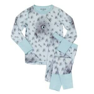 Beau & Rooster Unisex Nightwear Blue Night Owl Pyjamas Canal Blue