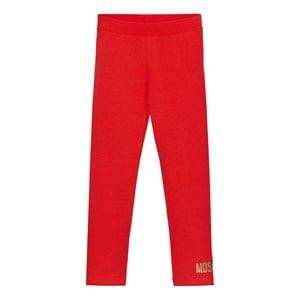 Moschino Kid-Teen Girls Bottoms Red Red Branded Leggings