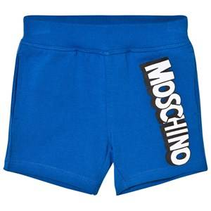 Moschino Kid-Teen Boys Shorts Blue Blue Jersey Branded Shorts
