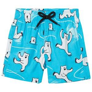 Vilebrequin Boys Swimwear and coverups Blue BLUE ICE SKATING AND SOME JUST CHILING POLAR BEAR TRUNKS