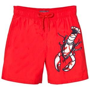 Vilebrequin Girls Swimwear and coverups Red Red Lobster Embroidered Swimming Trunks