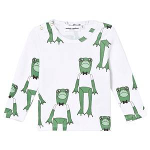Mini Rodini Unisex Tops Green Frogs Tee Green
