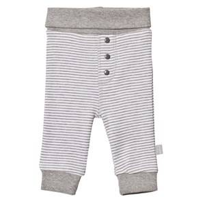Hust&Claire; Unisex Bottoms Grey Striped Sweatpants Light Grey Mélange