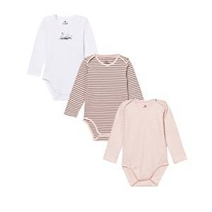 Hust&Claire; Girls All in ones Baby Body 3-Pack Peach Dust
