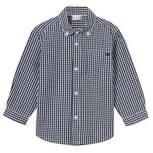 Hust&Claire; Boys Tops Blue Plaid Shirt Navy