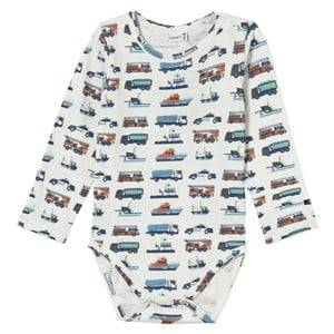 Hust&Claire; Boys All in ones Baby Body With Print Ivory
