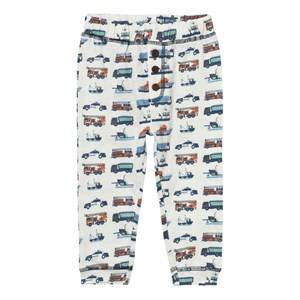 Hust&Claire; Boys Bottoms Cream Jersey Trousers With Print Ivory