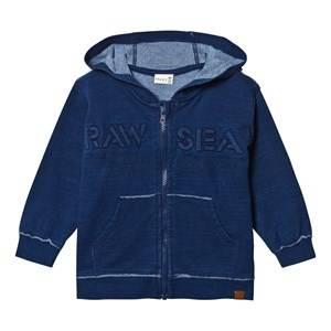 Hust&Claire; Boys Jumpers and knitwear Blue Sweatshirt with Zipper Blue Moon