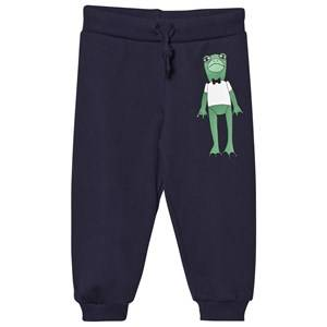 Mini Rodini Unisex Bottoms Navy Frog Sweatpants Navy