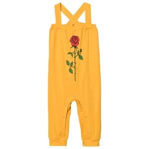 Mini Rodini Unisex All in ones Yellow Rose Jumpsuit Yellow