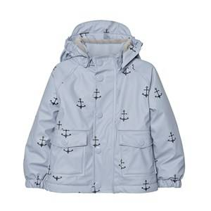 Mini A Ture Unisex Coats and jackets Blue Julien Print Raincoat Ashley Blue
