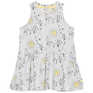 The Bonnie Mob Girls Dresses White Printed Sleeveless Dress Sunny Bunny Print