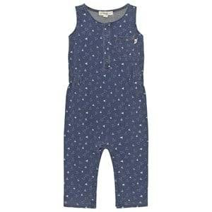 The Bonnie Mob Unisex All in ones Blue Indigo Terry Sleeveless Jumpsuit