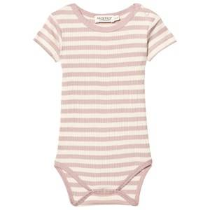 MarMar Copenhagen Girls All in ones Pink Plain Body Faded Rose/Off White