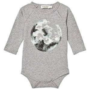 MarMar Copenhagen Unisex All in ones Grey Bo Jersey Body Moon Print Grey