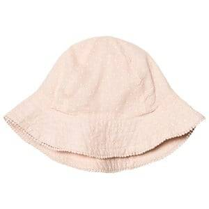 MarMar Copenhagen Girls Headwear Pink Alba Sunhat Peach Cream Dot