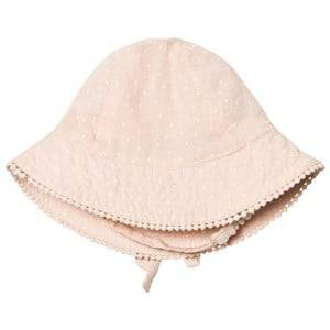 MarMar Copenhagen Girls Headwear Pink Alba Baby Sunhat Peach Cream Dot