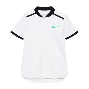 NIKE Boys Tops White White Advance Tennis Polo