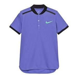 NIKE Boys Tops Blue Blue Advance Tennis Polo