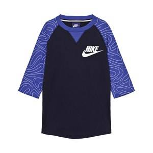 NIKE Boys Tops Navy Navy 3 Quarter Sleeve Top