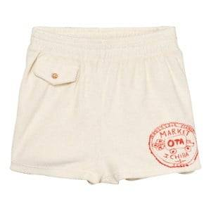 The Animals Observatory Unisex Shorts White Poodle Bermuda Shorts Raw White Market