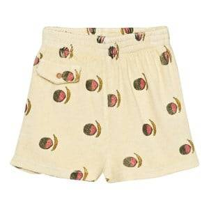 The Animals Observatory Unisex Shorts Yellow Poodle Bermuda Shorts Soft Yellow Fruit