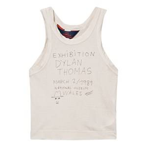 The Animals Observatory Unisex Tops White Frog Tank Top Raw White Exhibition