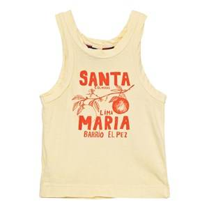 The Animals Observatory Unisex Tops Yellow Frog Tank Top Soft Yellow Santa Maria