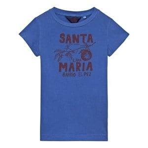 The Animals Observatory Girls Dresses Blue Gorilla Dress Blue Santa Maria