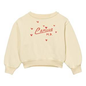 The Animals Observatory Unisex Jumpers and knitwear Yellow Bear Sweatshirt Soft Yellow L