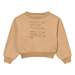 The Animals Observatory Unisex Jumpers and knitwear Beige Bear Sweatshirt Ochre Exhibition