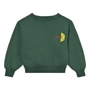The Animals Observatory Unisex Jumpers and knitwear Green Bear Sweatshirt Military Green Tao Triangles