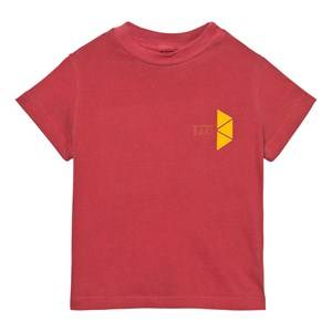 The Animals Observatory Unisex Tops Red Rooster T-Shirt Maroon Tao Triangles