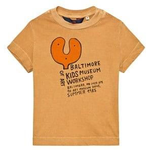 The Animals Observatory Unisex Tops Beige Rooster T-Shirt Toffee Baltimore