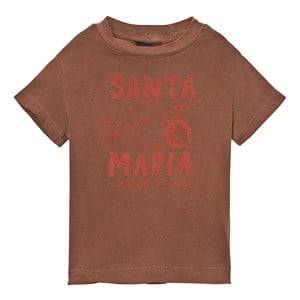 The Animals Observatory Unisex Tops Brown Rooster T-Shirt Brown Santa Maria