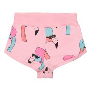 Gardner and the gang Unisex Shorts Pink Shorts Helmut Flamingo Candy Pink