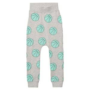 Gardner and the gang Unisex Bottoms Grey Slouchy Pants Basketball Heather Grey