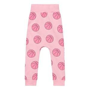 Gardner and the gang Unisex Bottoms Pink Slouchy Pants Basketball Candy Pink