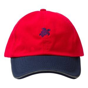 Vilebrequin Boys Headwear Red Red Turtle Cap
