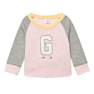 GAP Girls Jumpers and knitwear Pink Logo Raglan Crew Sweatshirt Pink