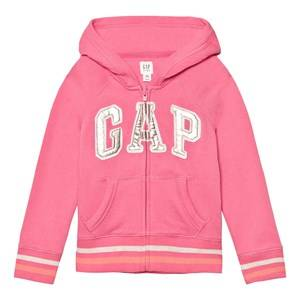 GAP Girls Jumpers and knitwear Pink Logo Terry Zip Hoodie Pixie Dust Pink