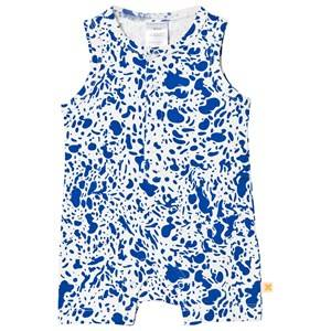Tinycottons Unisex All in ones White Enamel Romper Off White/Blue
