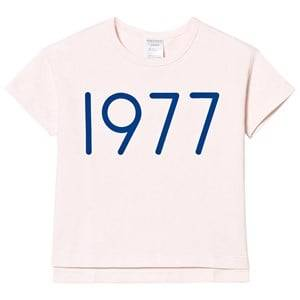 Tinycottons Unisex Tops Pink 1977 Oversized Tee Pale Pink/Blue