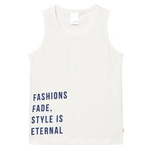 Tinycottons Unisex Tops White Style Is Eternal Gr Tank Top Off White/Blue