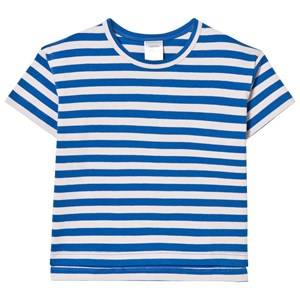 Tinycottons Unisex Tops Pink Small Stripes Oversized Tee Pale Pink/Blue