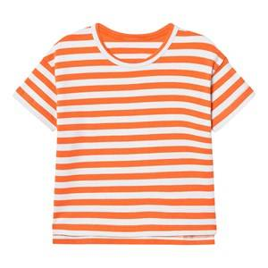 Tinycottons Unisex Tops Red Small Stripes Oversized Tee Red/Light Blue